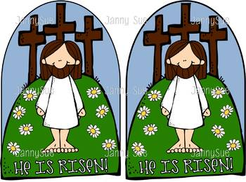Jesus & the cross craft- He is Risen- Easter Bible Craft for kids
