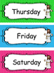 Jesus themed Days of the Week Labels. Preschool-KDG. Bible