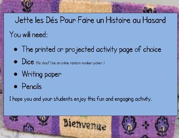 Jette les Dés Pour Faire un Histoire au Hasard FRENCH Roll-a-Story