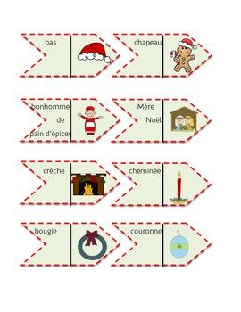 Jeu Dominos de Noël/ French Christmas words dominos