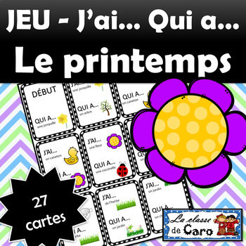 Jeu: J'ai... Qui a... LE PRINTEMPS (FRENCH FSL)