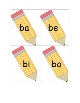 Jeu - Je peux lire les syllabes simples