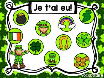 Jeu Je t'ai eu! La Saint Patrick (FRENCH Saint Patrick's Day Gotcha! Game)