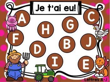 Jeu Je t'ai eu! La ferme (FRENCH Farm-themed Gotcha! Game)