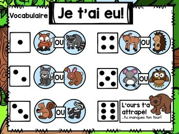 Jeu Je t'ai eu! Les animaux de la forêt (FRENCH Forest-themed Gotcha! Game)