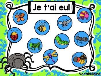 Jeu Je t'ai eu! Les insectes (FRENCH Bug-themed Gotcha! Game)