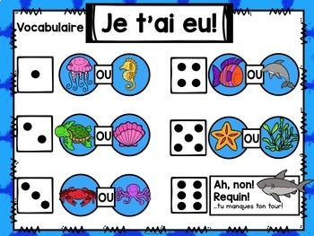 Jeu Je t'ai eu! Océan (FRENCH Ocean-themed Gotcha! Game)