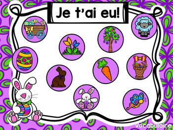 Jeu Je t'ai eu! Pâques (FRENCH Easter Gotcha! Game)