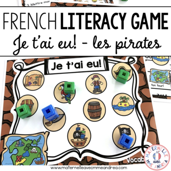 Jeu Je t'ai eu! Pirates (FRENCH Pirate-themed Gotcha! Game)