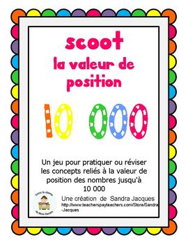 Jeu Scoot - La valeur de position (Place Value Scoot in French)