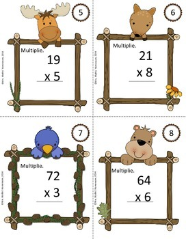 "Jeu ""Scoot"" de multiplications, 2 nombres multipliés par 1 nombre"