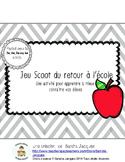 Jeu Scoot du retour à l'école (Back to School Scoot in French)