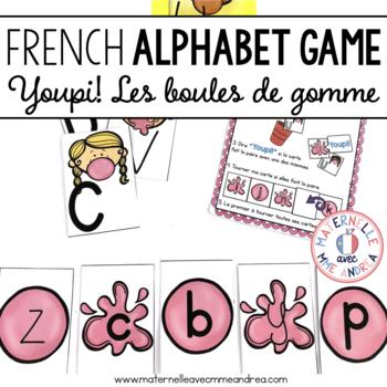 Jeu Youpi! Boules de gomme - FRENCH Bubblegum themed game/literacy centre
