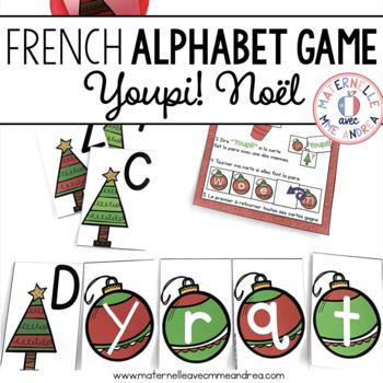 Jeu Youpi! C'est Noël - FRENCH Christmas themed game/literacy centre