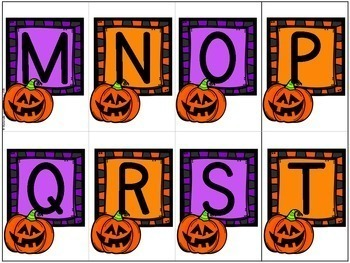 Jeu Youpi! C'est l'Halloween - FRENCH Halloween themed game/literacy centre