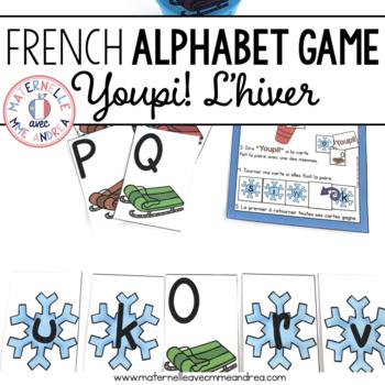 Jeu Youpi! C'est l'hiver - FRENCH Winter themed game/literacy centre