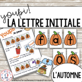Jeu Youpi! - FRENCH Beginning Letter Matching Game for l'automne