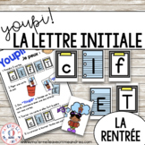 Jeu Youpi! - FRENCH Beginning Letter Matching Game for la rentrée
