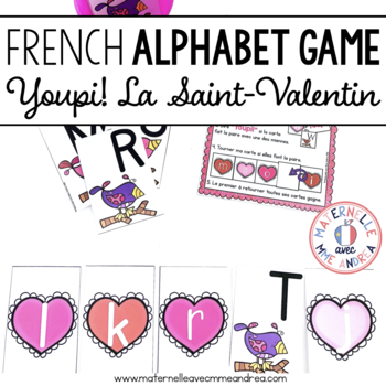 Jeu Youpi! La Saint-Valentin - FRENCH Valentine's Day themed game/centre