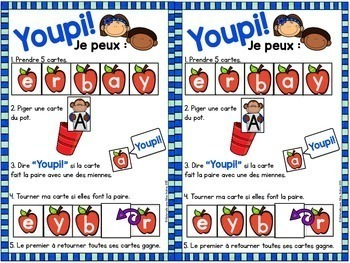 Jeu Youpi! - FRENCH game/literacy centre