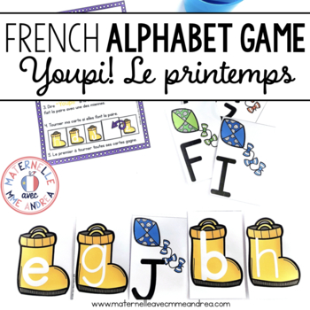 Jeu Youpi! Printemps - FRENCH Spring themed game/literacy centre