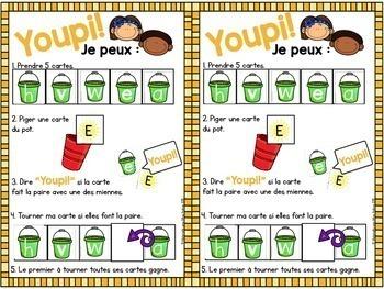 Jeu Youpi! Été - FRENCH Summer themed game/literacy centre
