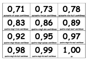 Jeu - comparer les nombres décimaux