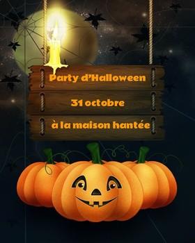 Jeu d'Halloween (French Halloween Board Game)