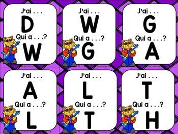 Jeu d'alphabet - J'ai. . . Qui a. . .?