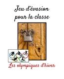 Jeu d'évasion (French Escape the Room):  olympiques d'hiver