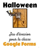 Jeu d'évasion avec Google Forms (French Escape Room):  c'est Halloween