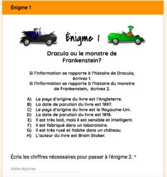 Jeu d'évasion avec Google Forms (French Escape Room):  c'est Halloween