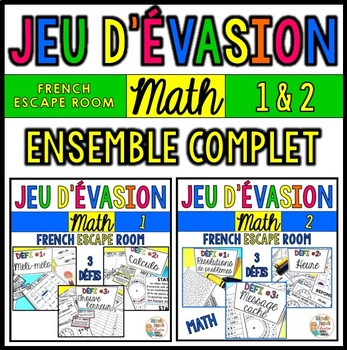 Jeu d'évasion de MATH - BUNDLE - French Escape Room