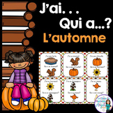 L'automne:  French Autumn  (Fall) Vocabulary game  - J'ai. . .Qui a. . .?