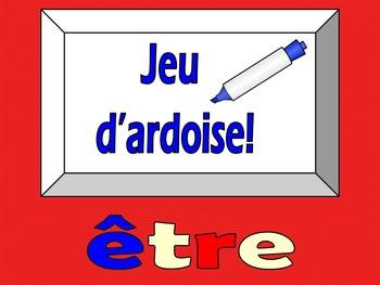 French Game - Jeu d'ardoise - etre - Discovering Bleu lesson 6