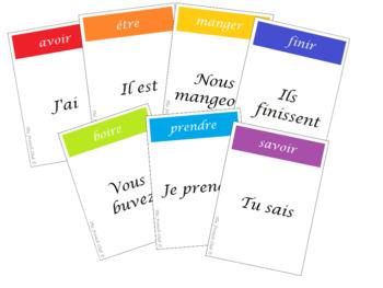 Jeu de 7 familles - Les verbes - French Card Game