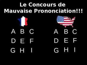 Jeu de Mauvaise Pronunciation - Perfect for Your French Exchange Program