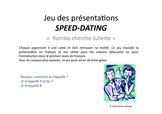"""Jeu de Speed dating """"Roméo cherche Juliette"""""""