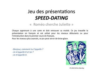 Jeux de Speed Dating en Francais nerdy krok upp linjer