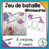 Jeu de bataille - dinosaures - St-Valentin / cards battle