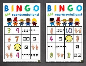 Jeu de bingo des représentations des nombres 1 à 10