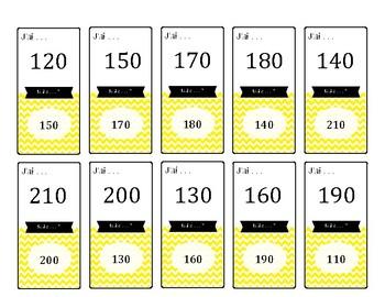 Jeu de cartes : Lire les nombres (-> 210)