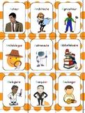 Jeu de cartes - les métiers - conscience phonologique
