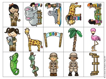 Jeu de communication orale: Au Zoo - Oral Communication Game in French