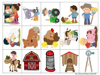 Jeu de communication orale: Farm- Oral Communication Game in French