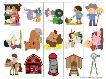 Jeu de communication orale: Farm- Oral Communication Game in French