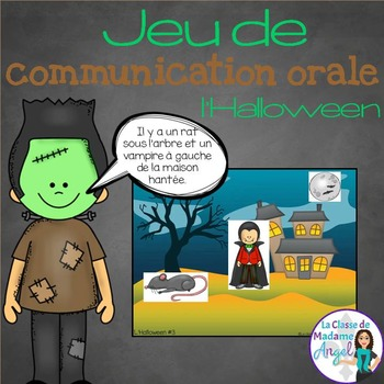 Jeu de communication orale: Halloween - Oral Communication Game in French