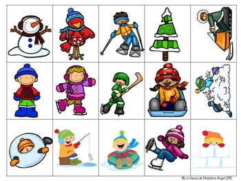 Jeu de communication orale: L'hiver - Oral Communication Game in French