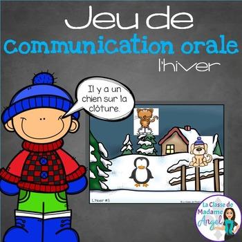 Jeu de communication orale: L'hiver - Oral Communication Game in French