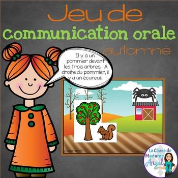 Jeu de communication orale: l'automne - Oral Communication Game in French